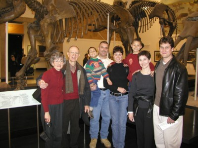 Christmas 2002; NYC. from left: my dad's wife, my dad, my nephew, me, my sister, my nephew, my sister, my brother-in-law